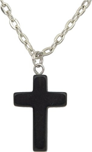 Unisex Pendant, Blackstone Gemstone Cross Shaped 1