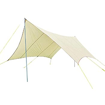 Image of Monoprice Large Wing Tarp Shelter, 75D Nylon PU1500mm, Extra Large Coverage Up to 8 People, Sun Shelter and Rain Cover - from Pure Outdoor Collection Back Machines