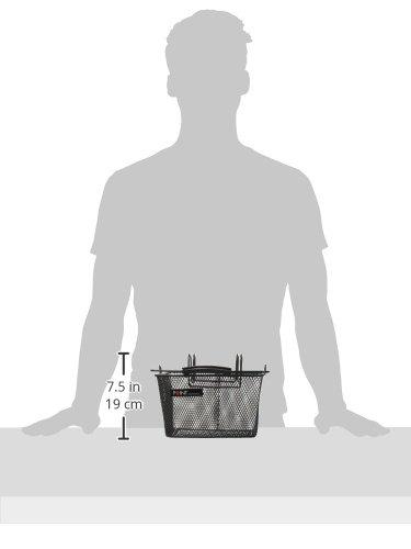 Point Vorderrad-Kinderkorb, Ergo-Griff-Lengermontage zum Einhängen, schwarz, 23x16x13cm, 05103005