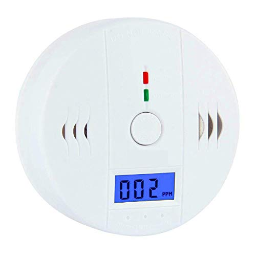 Lazaga CO Detector,Carbon Monoxide Gas Detection,Carbon Monoxide Alarm, LCD Portable Security Gas CO Monitor,Battery Powered (Battery not included)