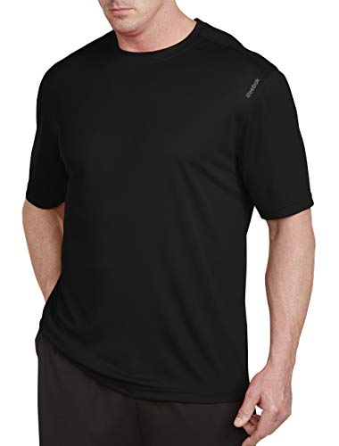 Reebok Bay Big & Tall Play Dry Tech T-Shirt (3XL, Black)