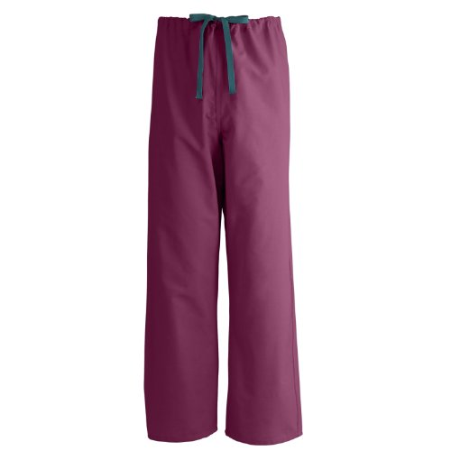 Medline AngelStat Reversible Drawstring Scrub Pant, ANG-CC, Small, - Pants Reversible Scrub Cotton