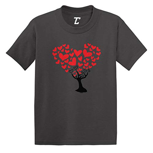 (Heart Tree - Love Valentine Cute Infant/Toddler Cotton Jersey T-Shirt (Charcoal, 18 Months))