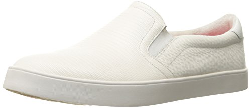 Dr. Scholl's Shoes Women's Madison Fashion Sneaker, Gardenia Reptile Leather, 9 M - Gardenia Velvet