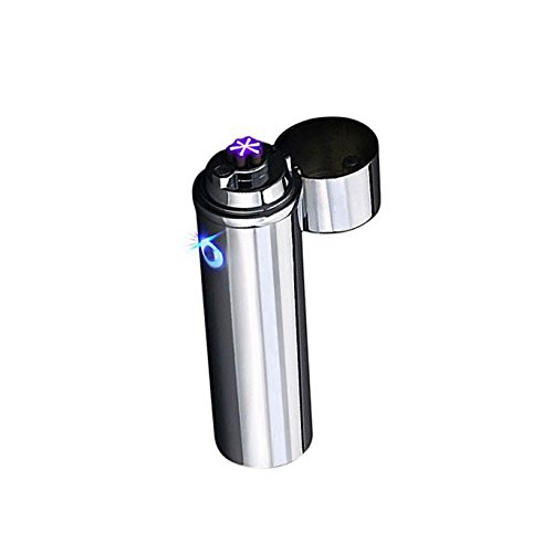 Premium Triple Arc Plasma Lighter - Eco-XL Heavy Duty Triple Beam Cigar Arc Lighter - Great for Lighting Cigars, Cigarettes - USB Rechargeable, Electric, Windproof, Flameless, Butane Free, Gift Box