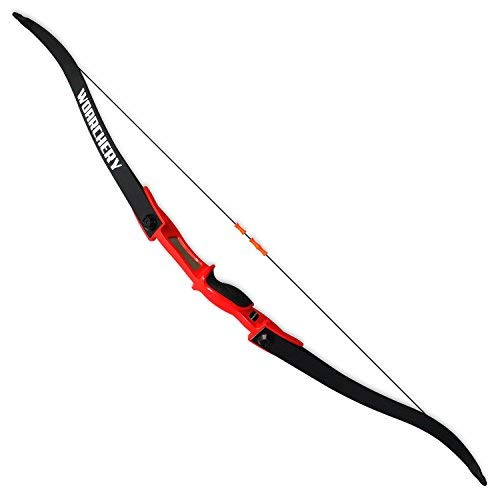 (WOARCHERY Combat Archery Takedown Right-Left Handed 25LBS Recurve Bow (Red))
