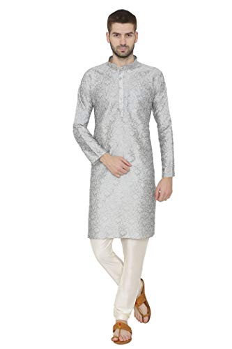 WINTAGE Men's Banarsi Art Silk Tailored Fit Festive and Casual Kurta Chudidar Pajama Pyjama - -