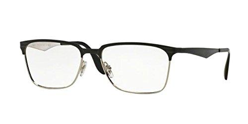 Ray-Ban Men's RX6344 Eyeglasses Top Black On Silver - Frames Optical 2017
