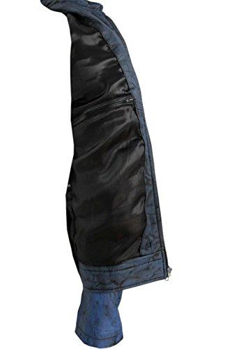 GEWEHRSCHÜTZE '7861 Männer ANTIKE BLAU Kurz Bomber Radfahrer-Motorrad Style Echtes Leder Jacke NEW.