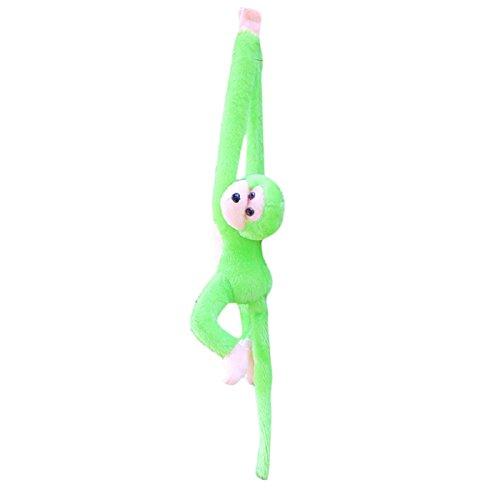 Ularmo Cute Screech Monkey Plush Toy Doll Doll Gibbons Kids Gift (green)