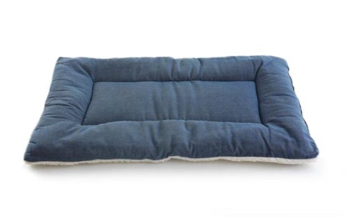 Pet Dreams Plush Sleep-eez Dog Bed Reversible 24 by 18-Inch Pet Bed, Small, Denim, My Pet Supplies