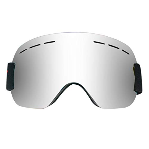 Fine Ski Goggles for Men Womens Youth Frameless Skiing Goggle Over Glasses,Winter Sport Snowboard Goggles, Adult Anti-Fog UV Dual Lens