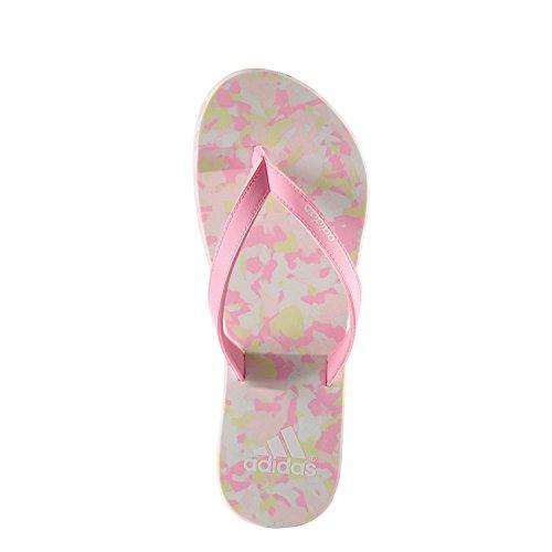 adidas Eezay Marbled W - Chanclas Para Mujer Blanco / Rosa