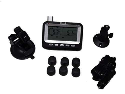 BELLACORP Tire Pressure Monitoring System TPMS Six (6) Sensors for Truck and Single Axle Trailer - Paper Input Sensor