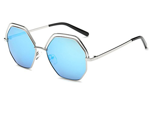Konalla Polygon lenses Sunglasses Geometric Cutouts Women's Eyewear - Wayfarer Small Sunglasses 47mm