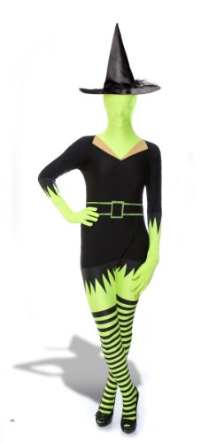 Morphsuits Premium Green Witch XL, Black / Green, X-Large -