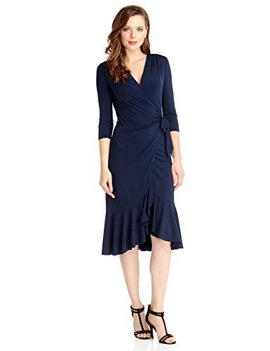 Ruffled Wrap Dress - 7