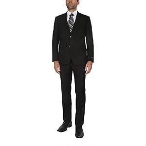 P&L Men's Premium Slim Fit 2-Piece Suit Blazer Jacket & Flat Pants Set