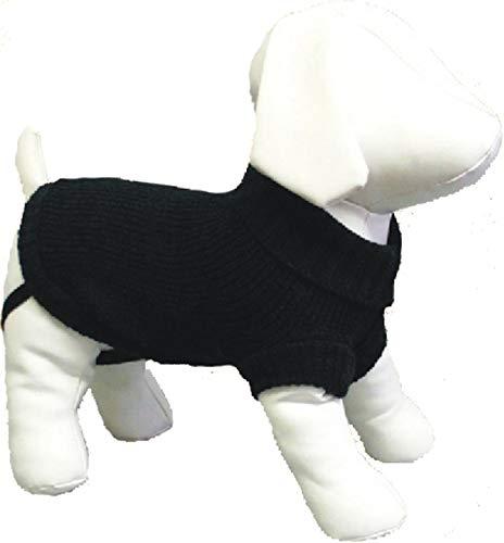 Amazing Pet Products Dog Sweater, 12-Inch, Black