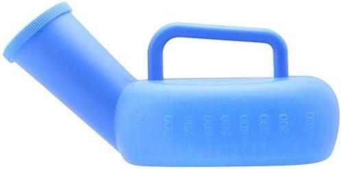 便器 ハンドルと長距離運転家庭厚いプラスチック大容量の尿ボトルを旅病院に適し便器メンズ便器900ミリリットル大口径ポータブル便器漏れ防止、 ユニセックス便器