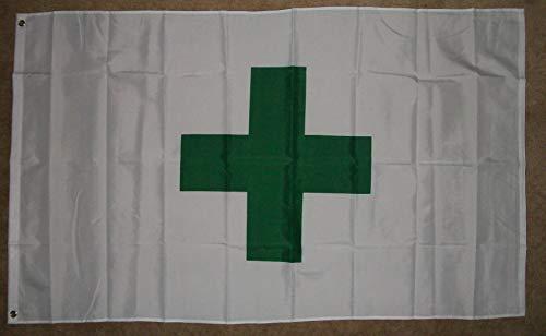 Green Cross Flag 3'x5' Medical Marijuana Banner