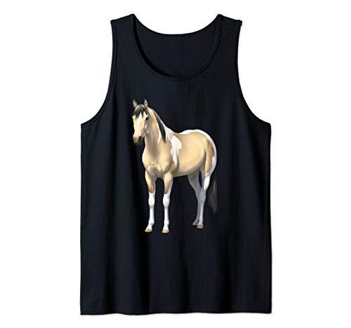 Buttermilk Buckskin Pinto Quarter Horse Paint Horse Tank Top ()