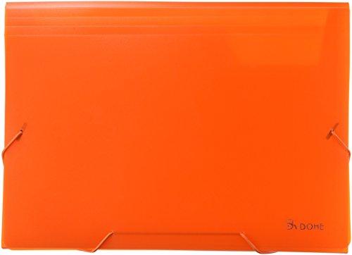 dohe 90618–Accordion School Polypropylene Translucent, Orange by DOHE