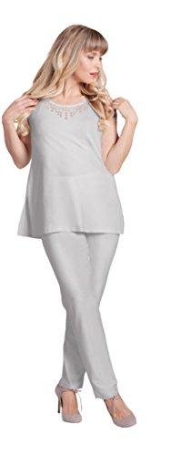 Sympli Women's Narrow Pant Long~Oatmeal (Oatmeal, 14-Long) by Sympli