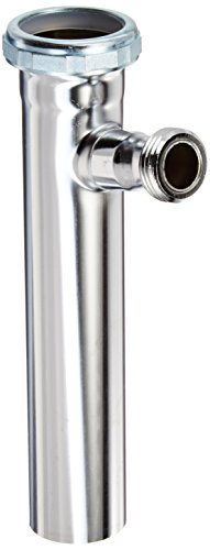 Plumb Pak 54RSN Branch Tailpiece, 22-Gauge Slip Joint, 1-1/2-Inch by 8-Inch with 1/2-Inch Copper or 3/4-Inch Hose Dishwasher, Chrome