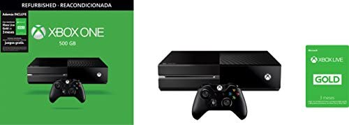 Consola Xbox One 500 GB Reacondicionada + Xbox Live Gold de 3 Meses - Standard Edition