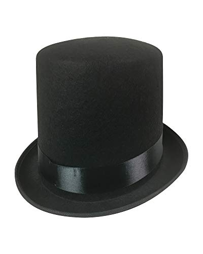 Top Hat Halloween (Black Top Hat - Adult Size Large to)