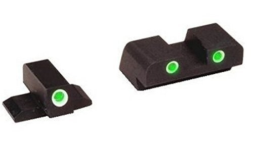 AmeriGlo FN-603 Tritium 3 Dot Night Sight Front And Rear Set FN FNP 40 + Ultimate Arms Gear 3/32 Pin Punch Tool