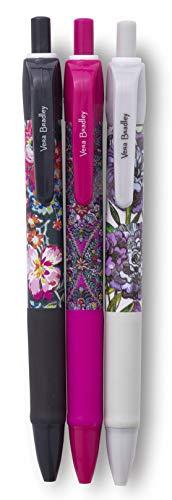 Vera Bradley Notebook - Vera Bradley Black Ink Click Pen Set of 3, Spring Multi Medley