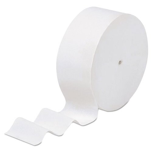 KIMBERLY-CLARK PROFESSIONAL* SCOTT Coreless Jumbo Roll Bathroom Tissue, 2-Ply, 1150 ft, White - Includes 12 rolls.
