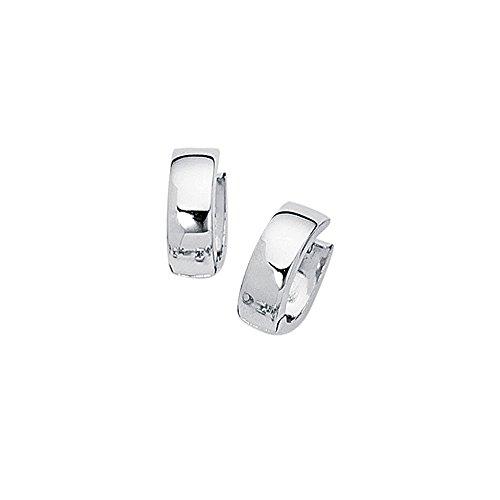 14k White Gold Pin - Aleksa Ladies 14K White Gold Aleksa Ladies Small Huggie Earrings