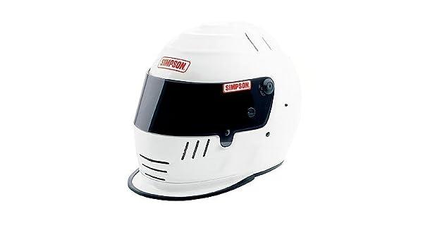 Simpson Racing 1786581 Jr Speedway Shark Large White Shark Helmet