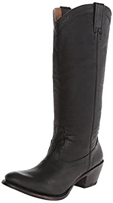 Stetson Women's 15 Inch Burnished Ficcini Riding Boot, Black, 9.5 B US