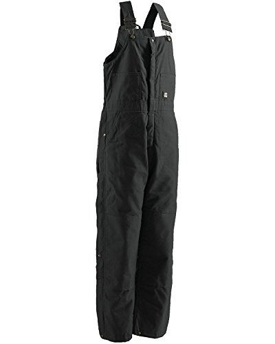 Berne Mens Deluxe Insulated Bib, Black, Medium/Short ()