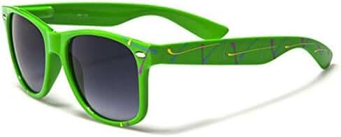 Retro 80's Fashion Sunglasses - Color Splash Ornament