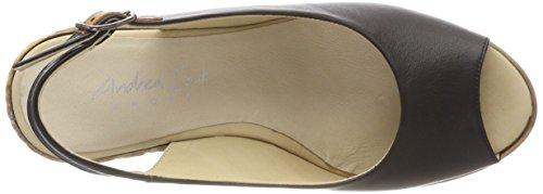 Andrea Conti 1675710, Women's Heels Sandals Black (Schwarz 002)