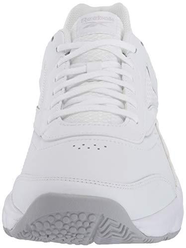 Reebok Men's Work N Cushion 4.0 Walking Shoe, Cold Grey/White, 8