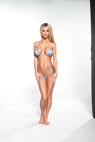 5893cade674bb Blue and Purple Daisies Sexy Micro G-String Bikini Mini Thong w ...