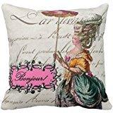 Marie Antoinette Bonjour Decorative Pillow Case