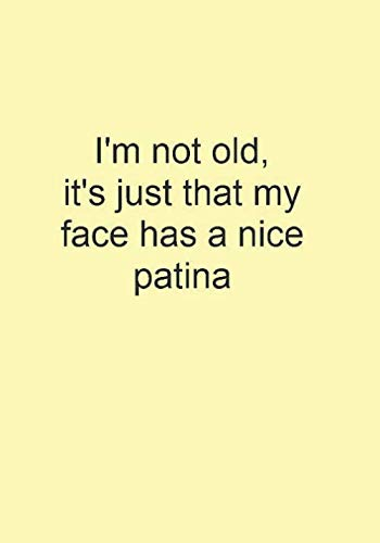 I'm not old, it's just that my face has a nice patina: Funny Gift Journal Notebook