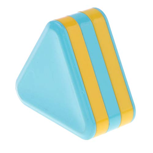 (Flameer Plastic Orff Instrument Toy Early Educational Toy for Kids - Blue Triangular Sand Drum)