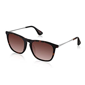 Polarized Wayfarer Sunglasses for Men Women by Wenlenie Tortoise Frame/Brown Lens, UV 400 Protection W4187