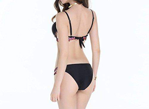 KUWOMINI.Woman Señoras De La Manera De La Playa Del Bikini De Cintura Baja Traje De Baño Bikini Green