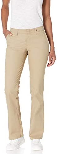 Dickies Women's Flat Front Stretch Twill Pant Slim Fit Bootcut