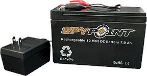 Spypoint 12-Volt 7.0 AH Rechargeable Battery and AC Charger