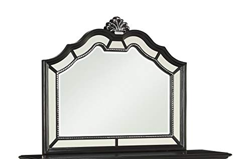Global Furniture USA Diana Mirror in Black ()